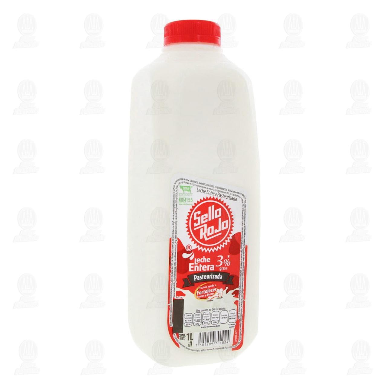 Leche Entera Sello Rojo Pasteurizada, 1 l.