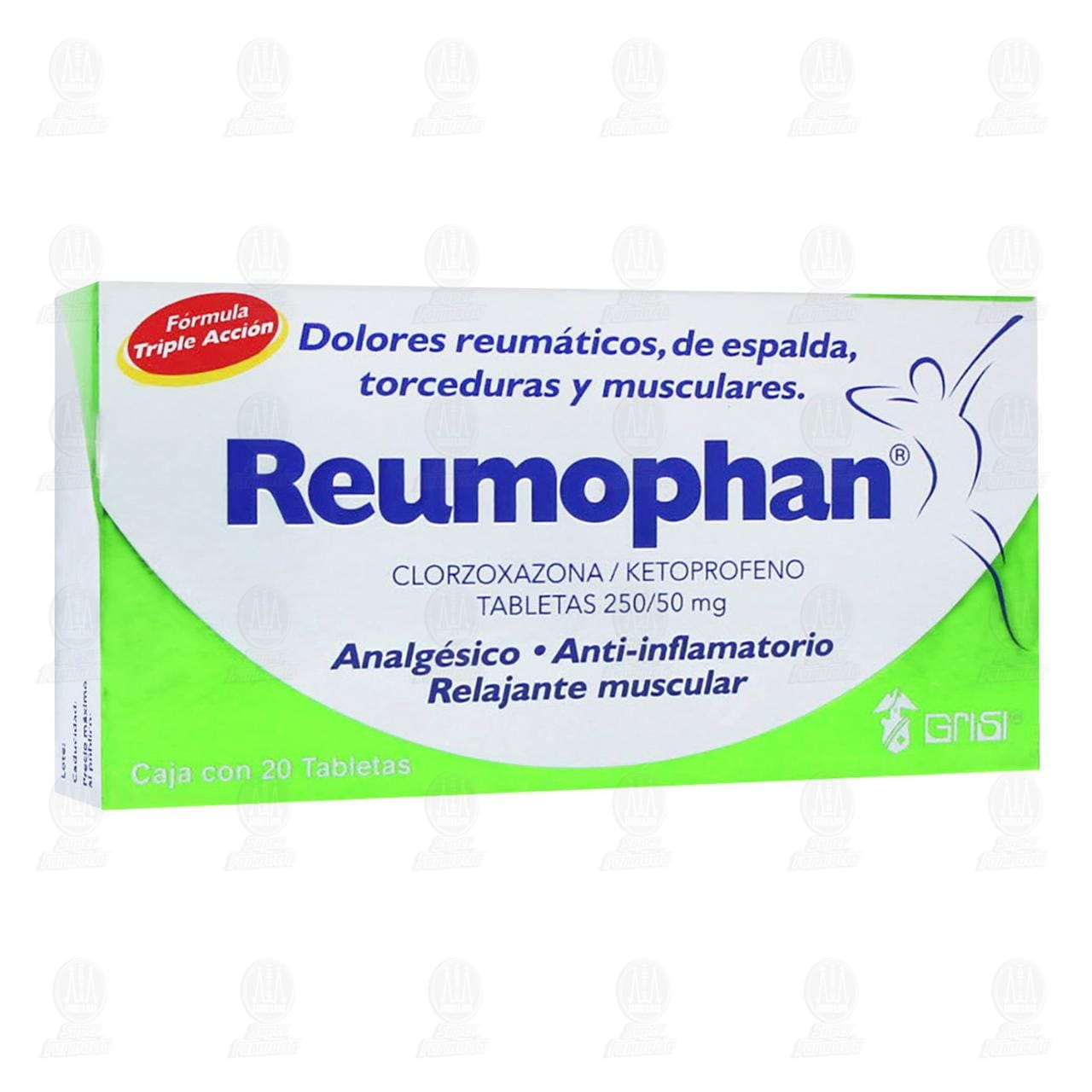 Reumophan 250mg 20 Tabletas