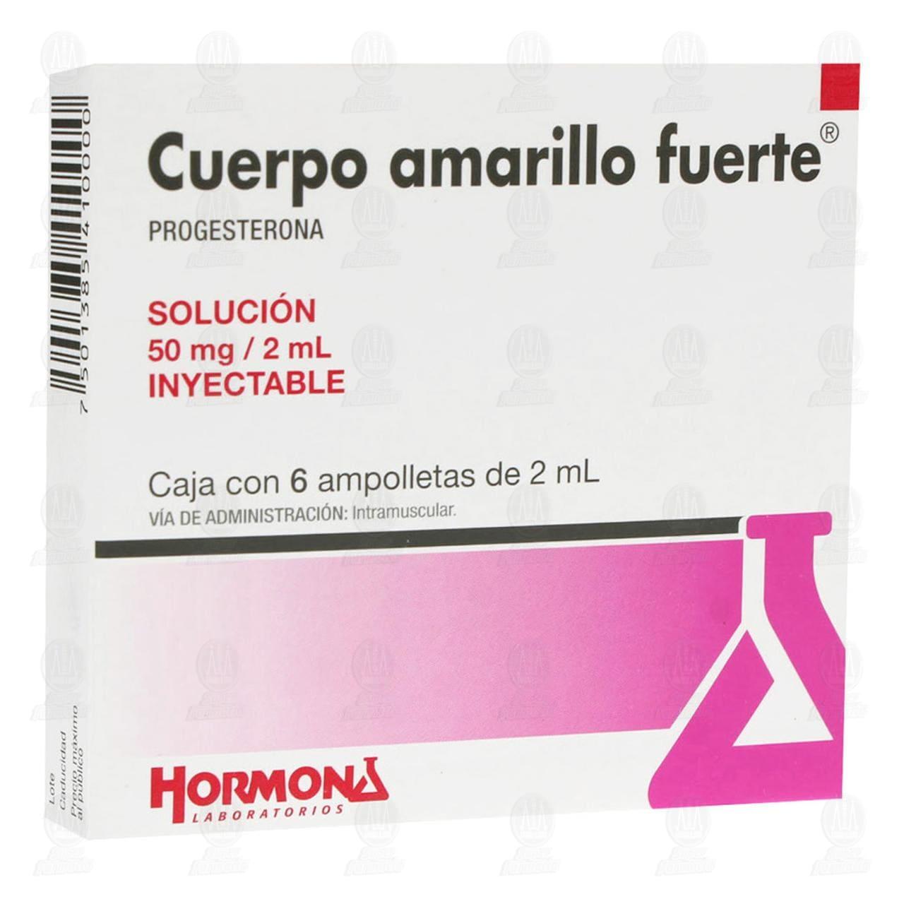 Comprar Cuerpo Amarillo Fuerte 2ml 6 Ampolletas en Farmacias Guadalajara