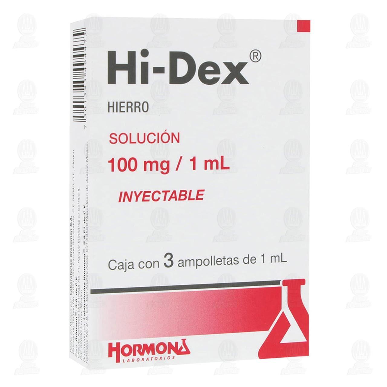 Hi Dex 100mg/ml 1ml 3 Ampolletas Solución Inyectable