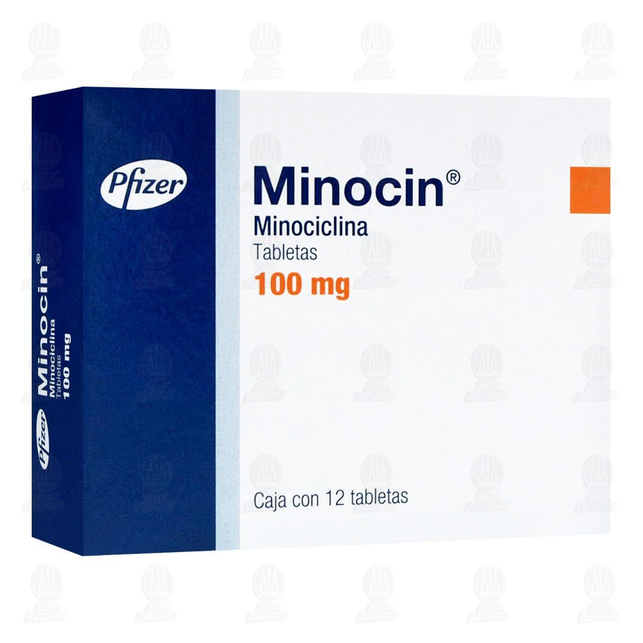 Comprar Minocin 100mg 12 Tabletas en Farmacias Guadalajara