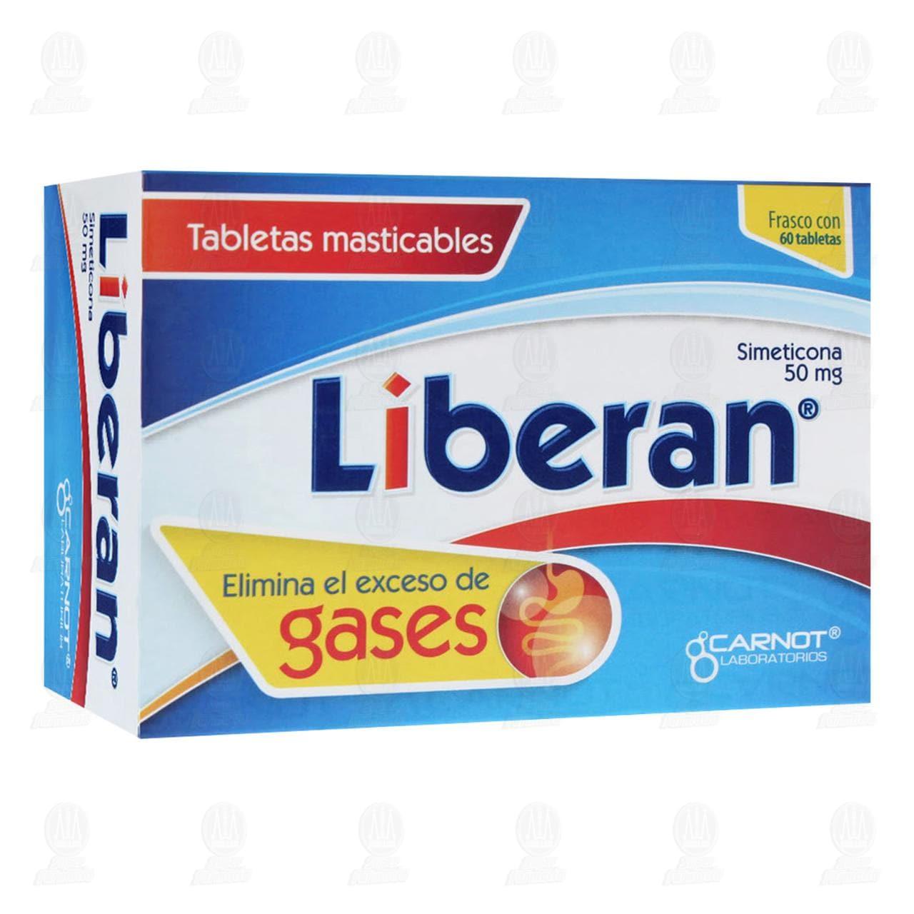Comprar Liberan 50mg 60 Tabletas Masticables en Farmacias Guadalajara
