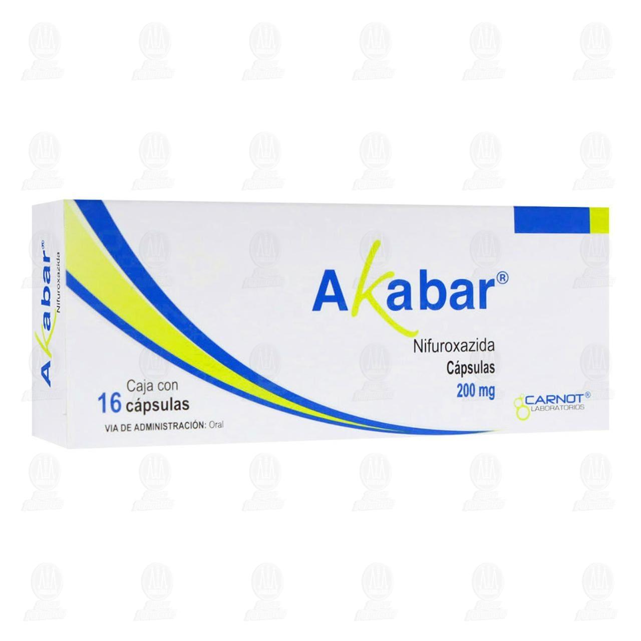 Comprar Akabar 200mg 16 Cápsulas en Farmacias Guadalajara