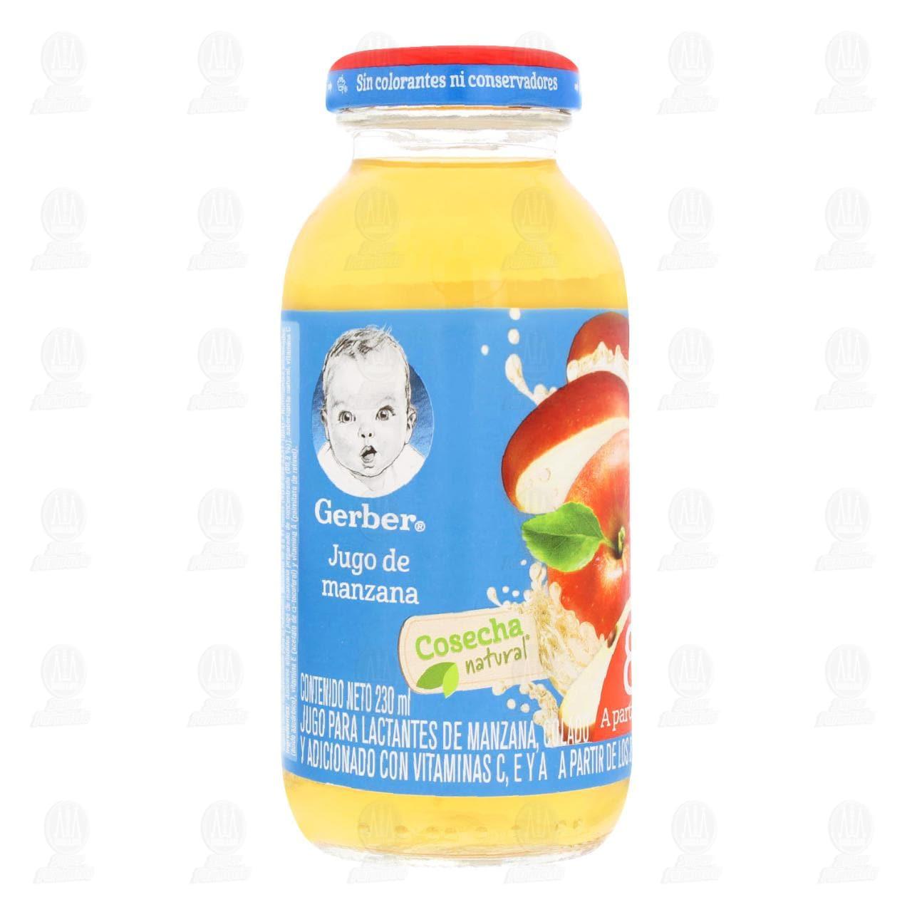 Comprar Jugo Gerber Cosecha Natural de Manzana, a Partir de los 8 Meses, 230 ml. en Farmacias Guadalajara
