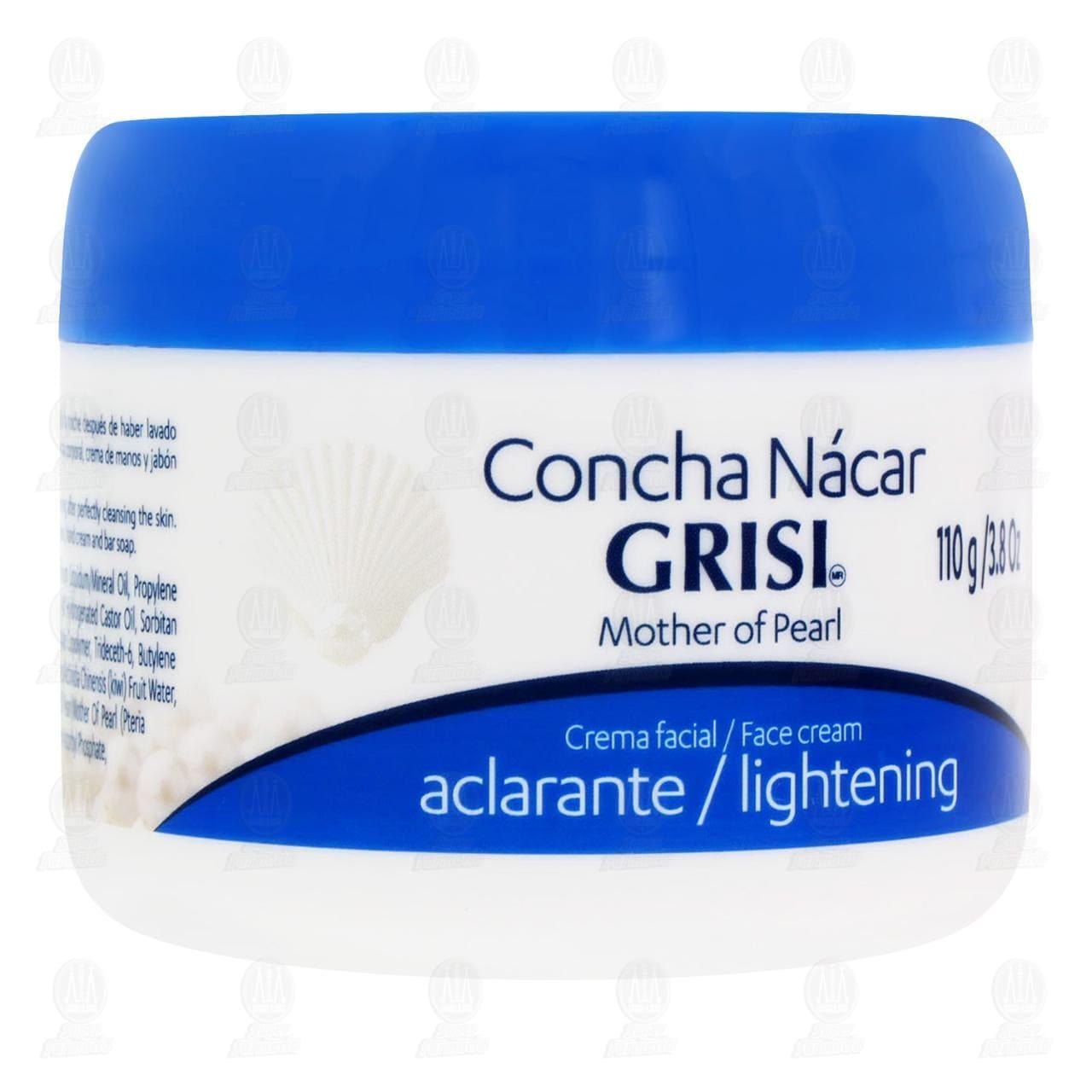 Crema Aclarante Concha Nácar Grisi para Rostro, 2 pzas.