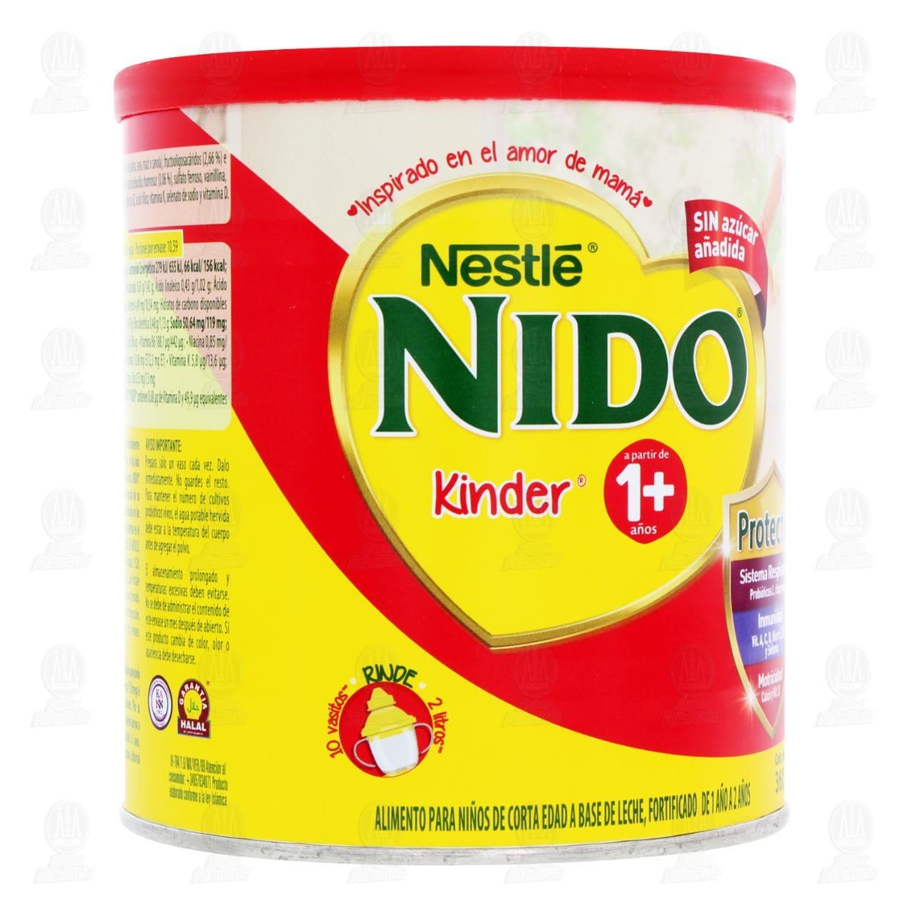 Comprar Alimento para Niños Nido Kinder 1 a 3 Años, 360 gr. en Farmacias Guadalajara