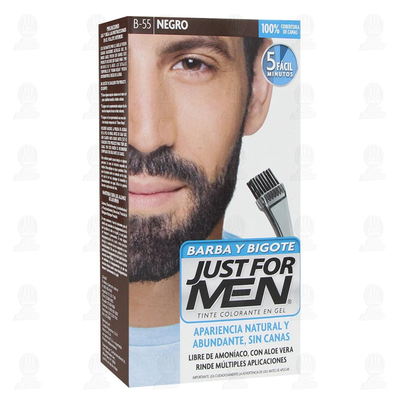 Tinte en Gel Just For Men Apariencia Natural y Abundante Sin Canas Negro, 6 pzas./28.4 gr.