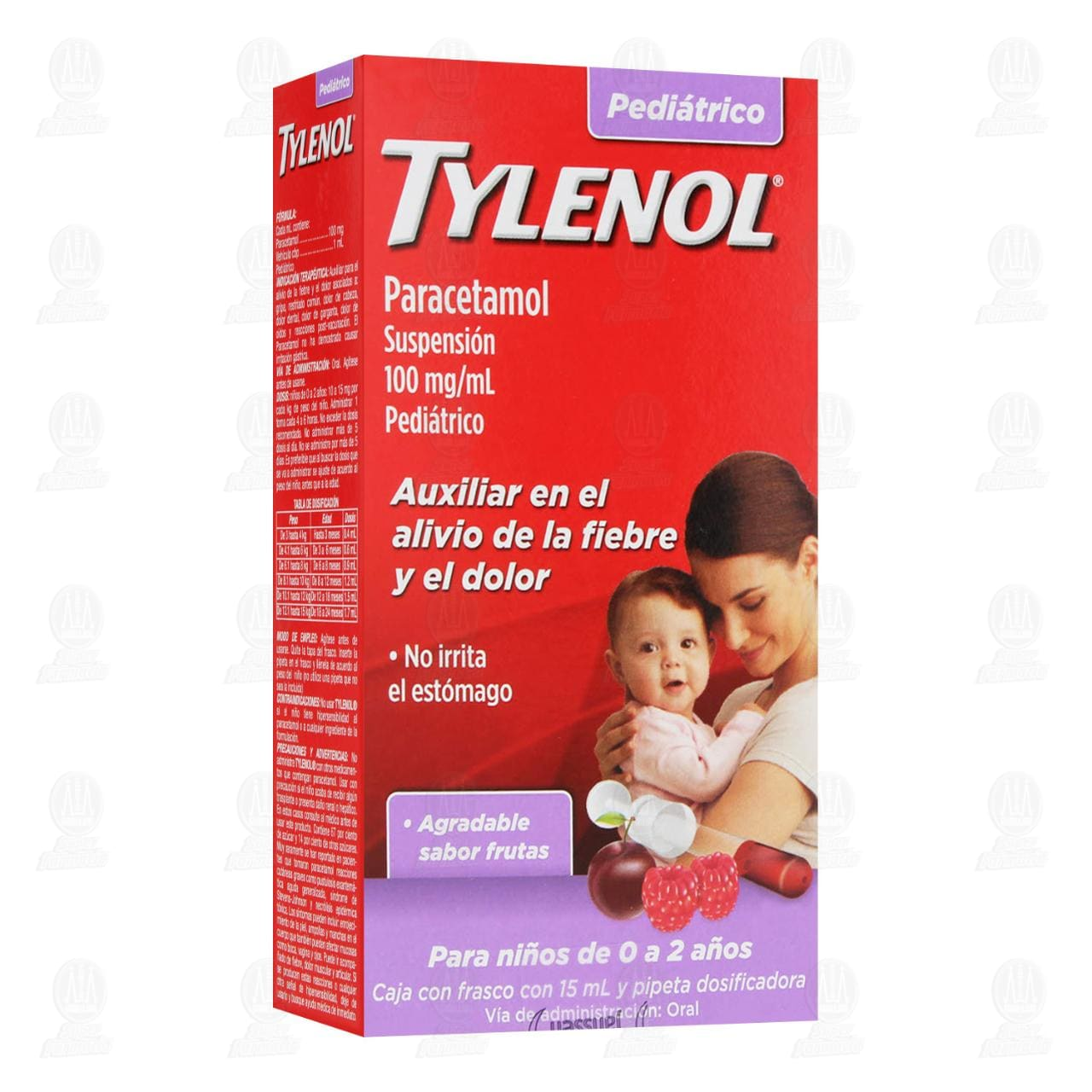 Comprar Tylenol 100mg/ml 15ml Gotas Suspensión Pediátrica en Farmacias Guadalajara