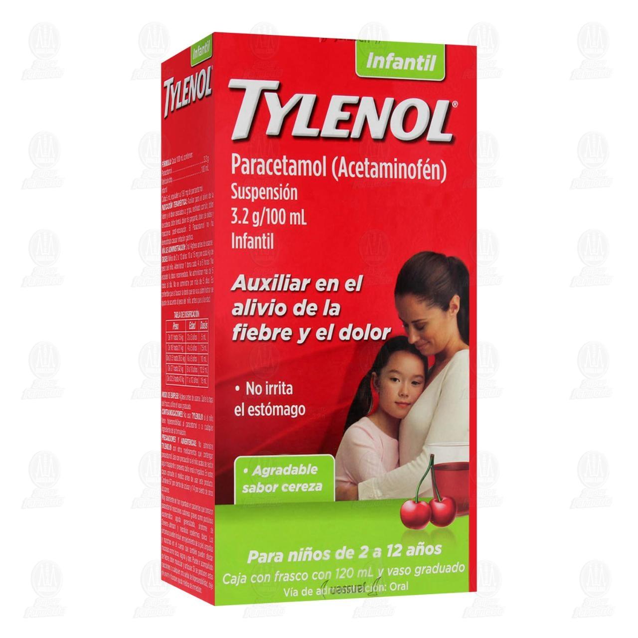 Comprar Tylenol 3.2g/100ml Suspensión Infantil 120ml en Farmacias Guadalajara