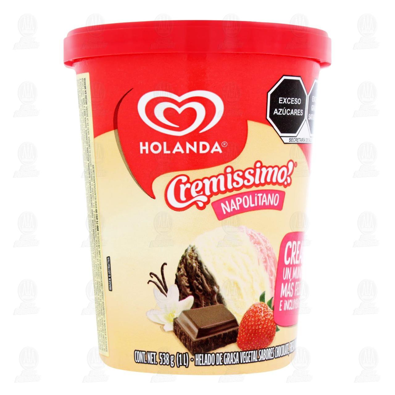 Helado Holanda Napolitano 1 lt.