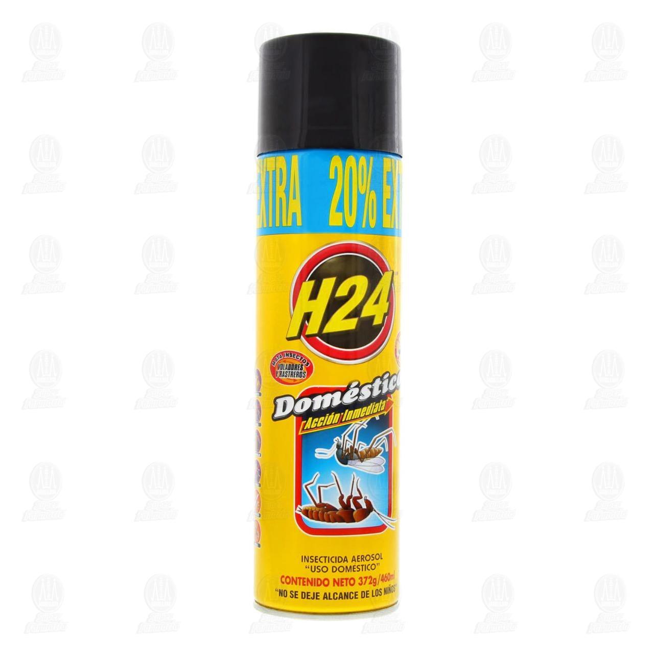 Insecticida H24 Doméstico en Aerosol Acción Inmediata, 460 ml.