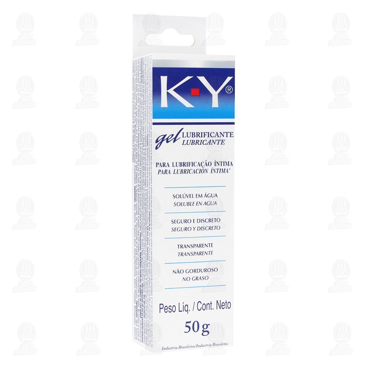 Comprar K-Y Gel Lubricante Íntimo 50gr en Farmacias Guadalajara