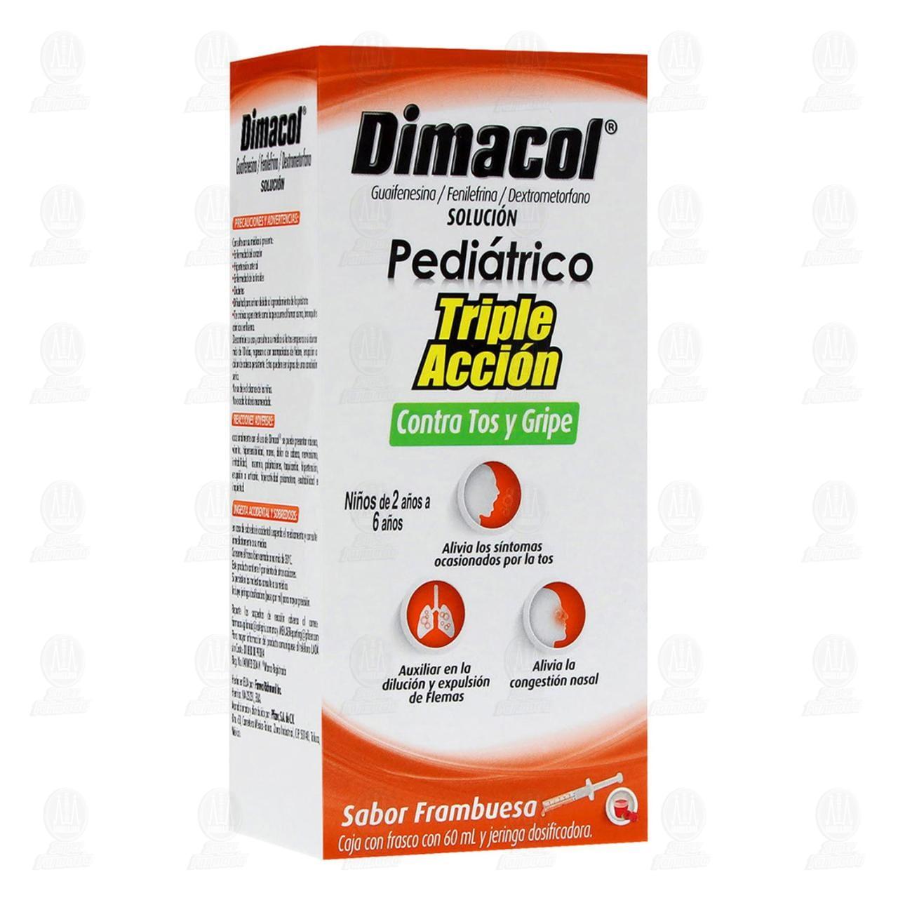 Comprar Dimacol Pediátrico Sabor Frambuesa 60ml en Farmacias Guadalajara