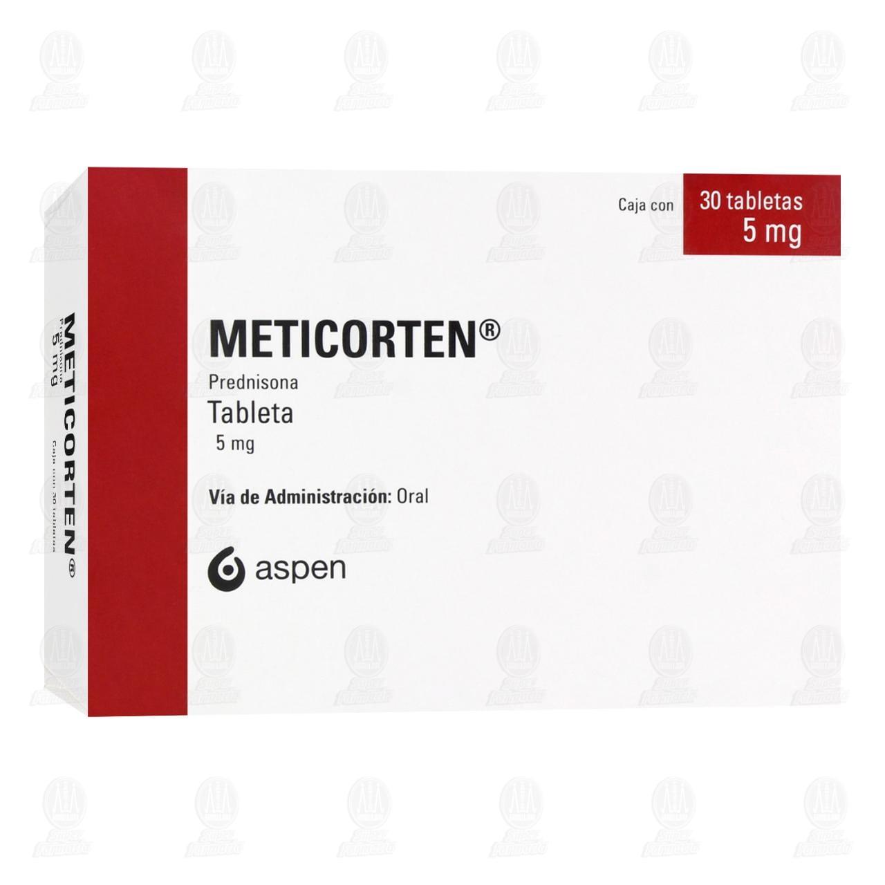 Comprar Meticorten 5mg 30 Tabletas en Farmacias Guadalajara