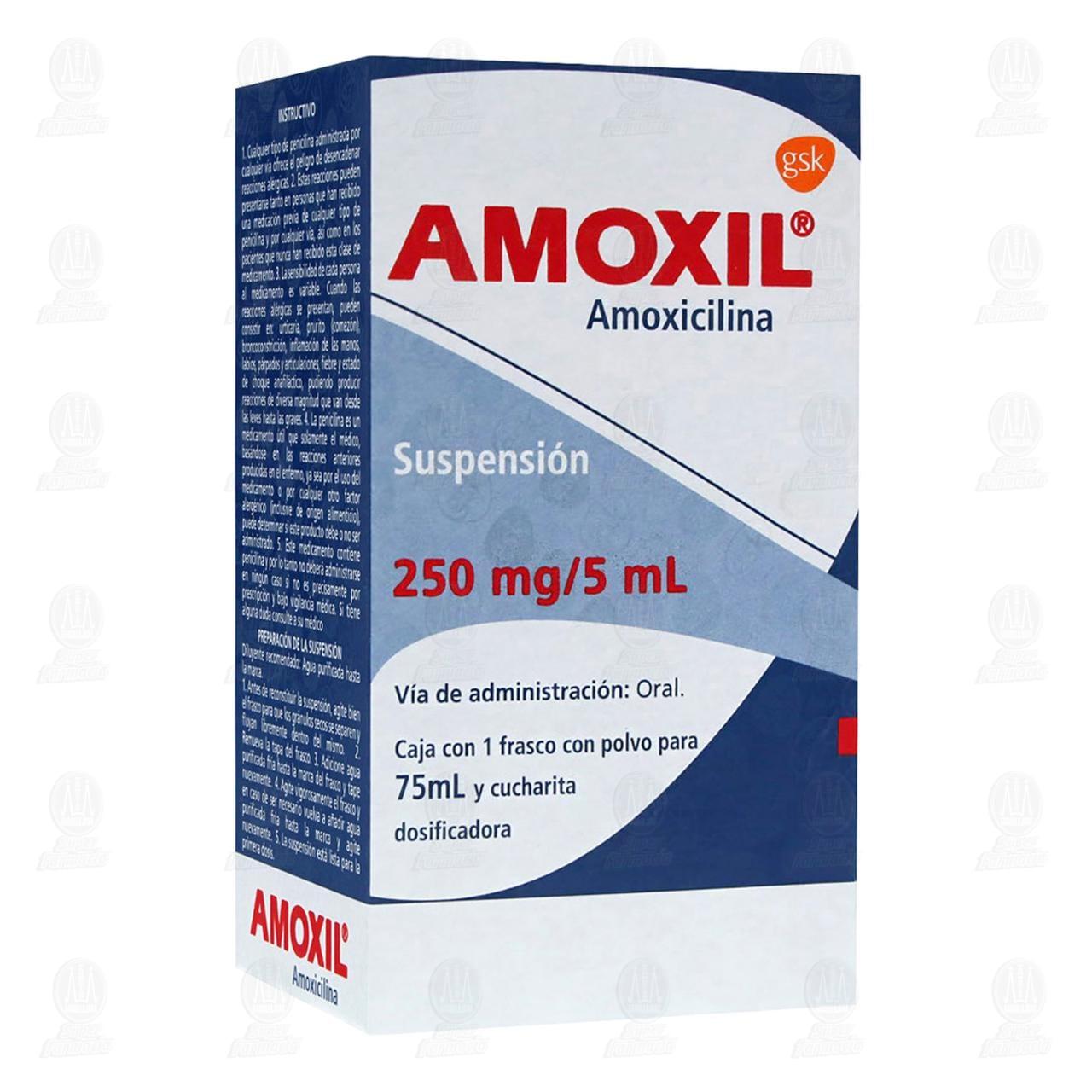 Comprar Amoxil 250mg/5ml 75ml Suspensión en Farmacias Guadalajara