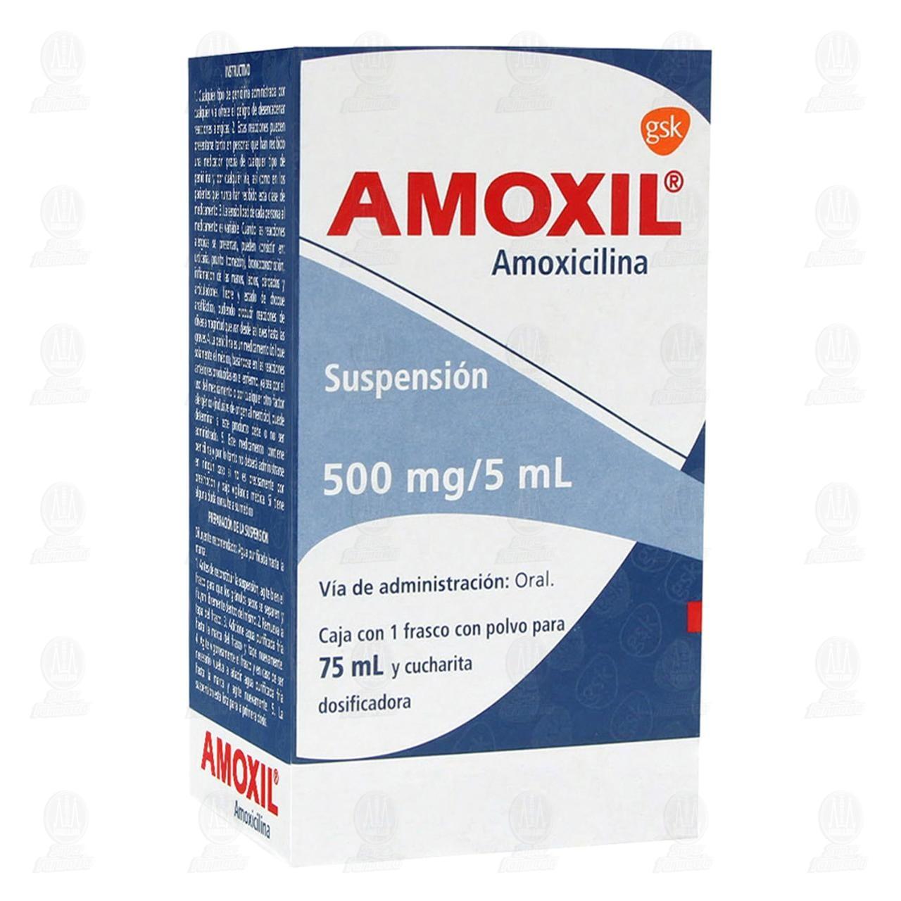 Comprar Amoxil 500mg/5ml 75ml Suspensión en Farmacias Guadalajara