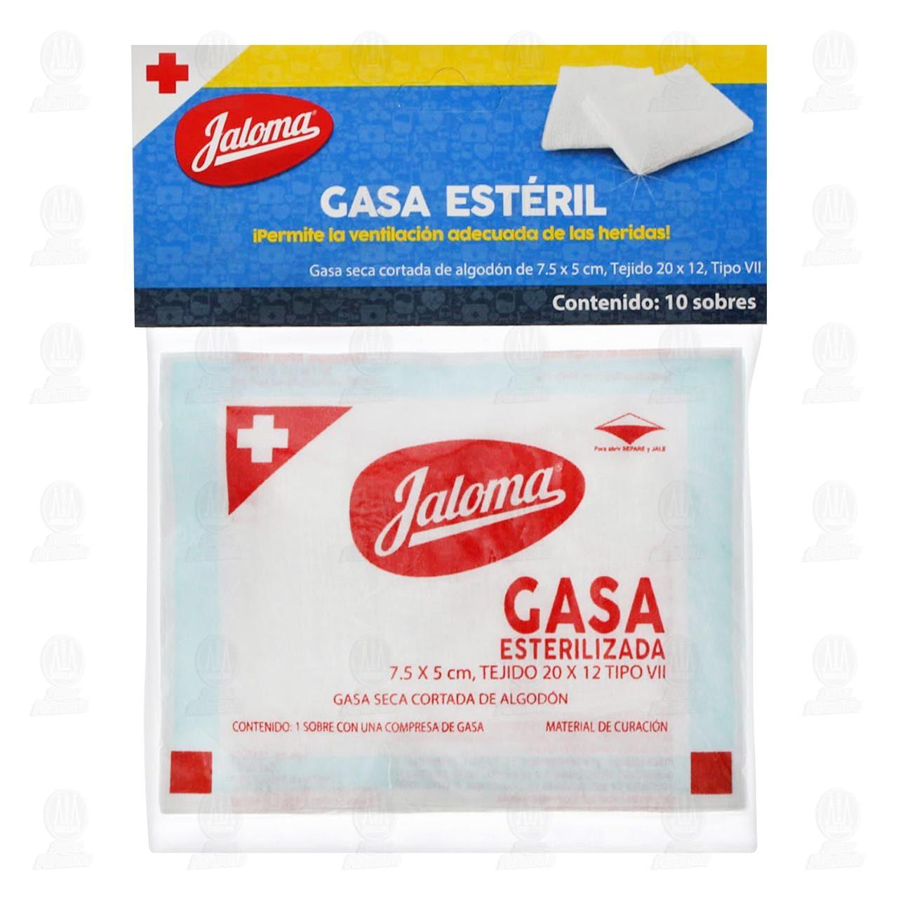 Gasa Jaloma 7.5 X 5 Cm 10 Sobres