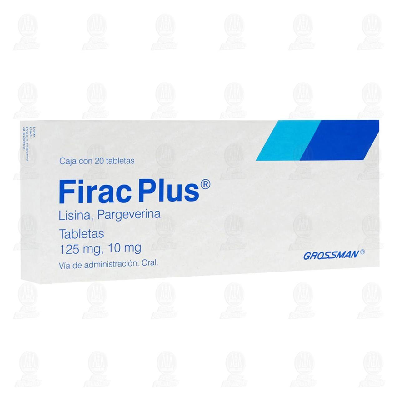 Firac Plus 125mg/10mg 20 Tabletas