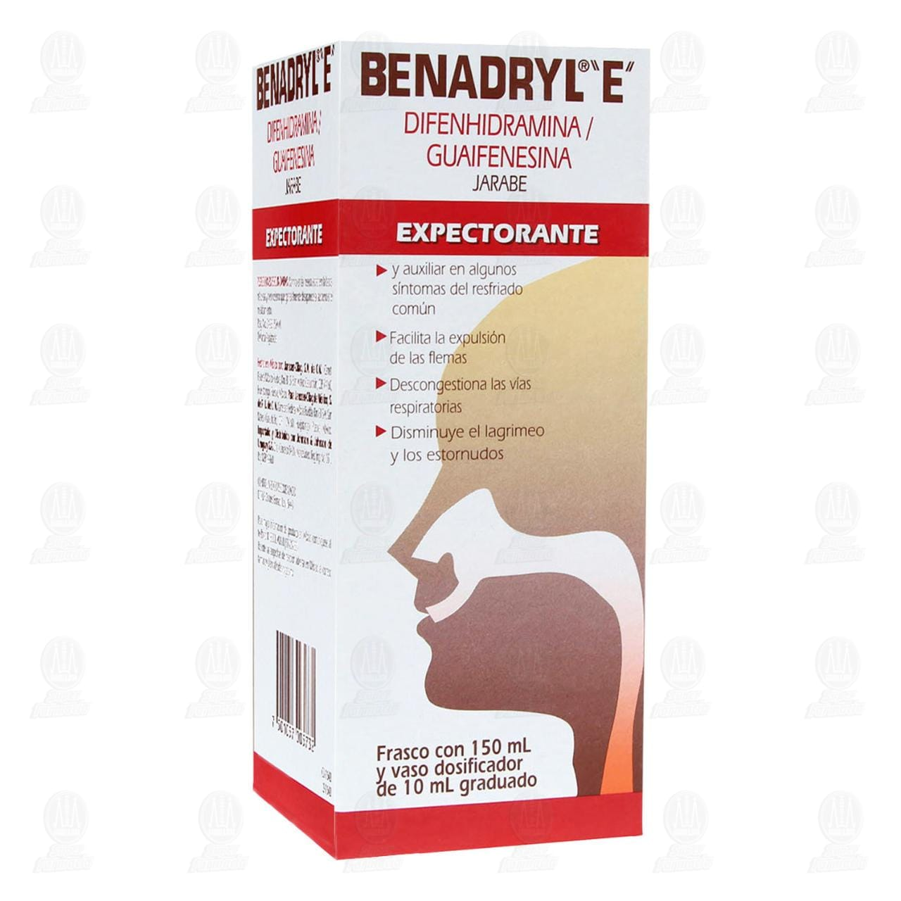 Comprar Benadryl E Jarabe Expectorante 150ml en Farmacias Guadalajara