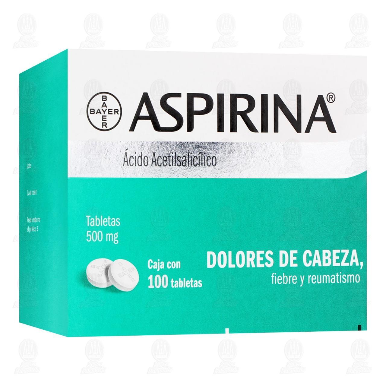 Comprar Aspirina 500mg 100 Tabletas en Farmacias Guadalajara