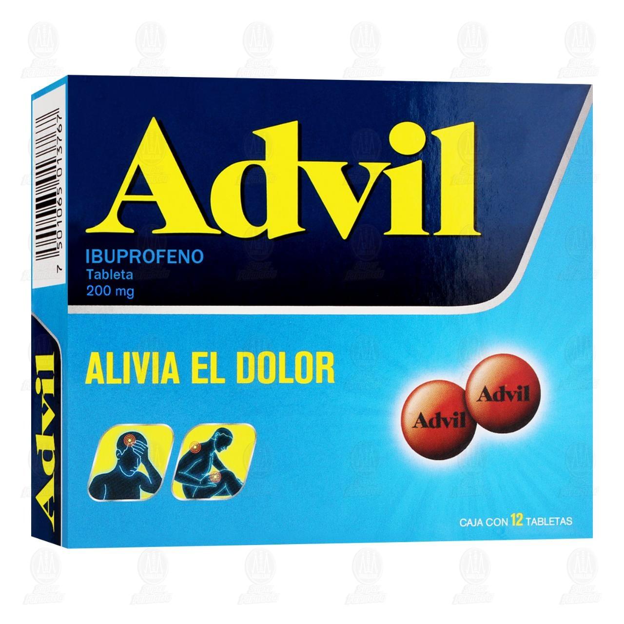 Comprar Advil 200mg 12 Tabletas en Farmacias Guadalajara