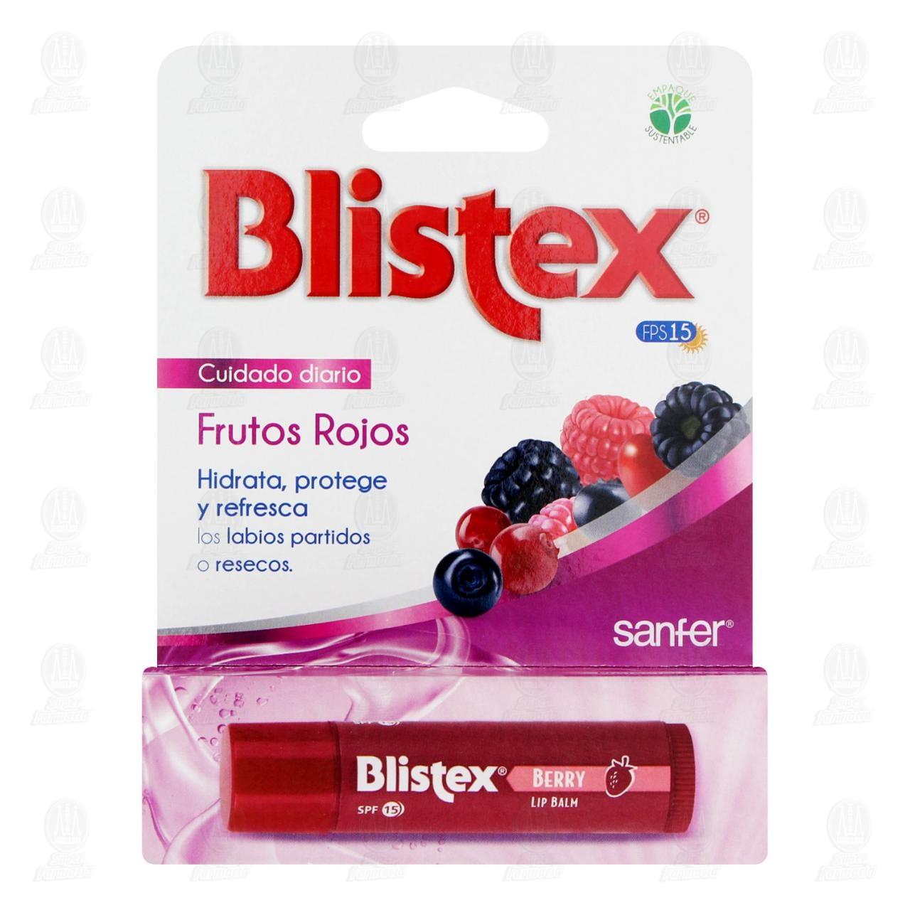 Protector Labial Blistex con Filtro Solar Sabor a Frutos Rojos, 4.2 gr.