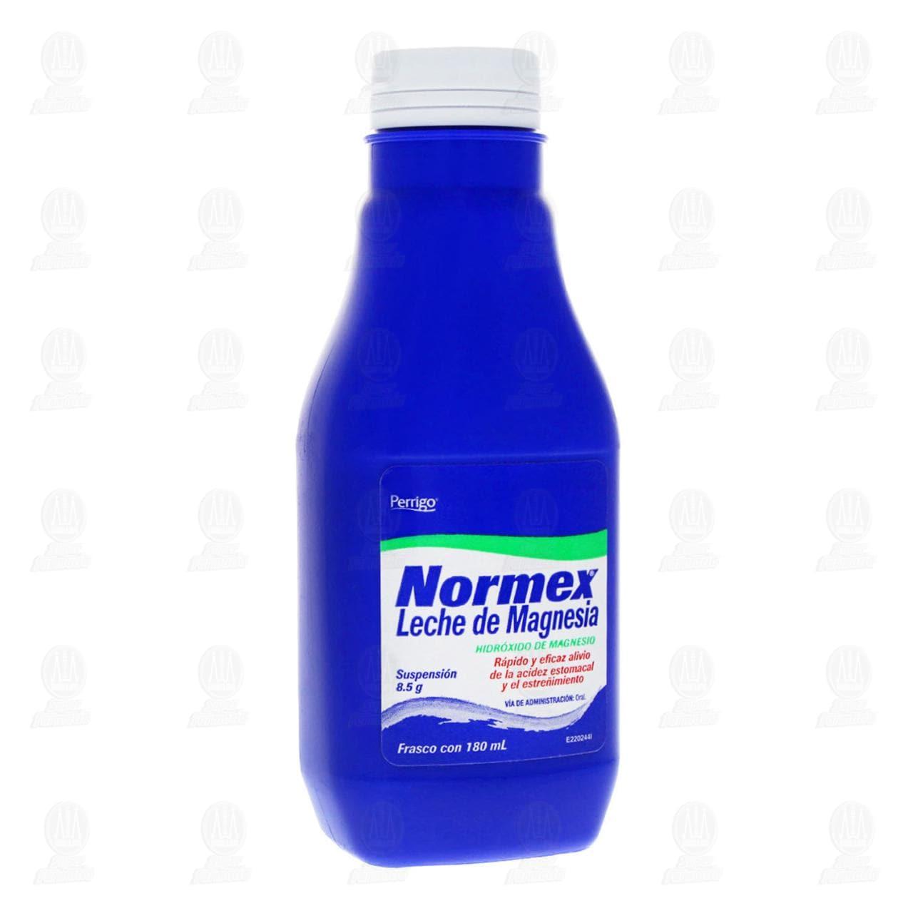 Comprar Leche de Magnesia Normex 8.5gr 180ml Suspensión en Farmacias Guadalajara