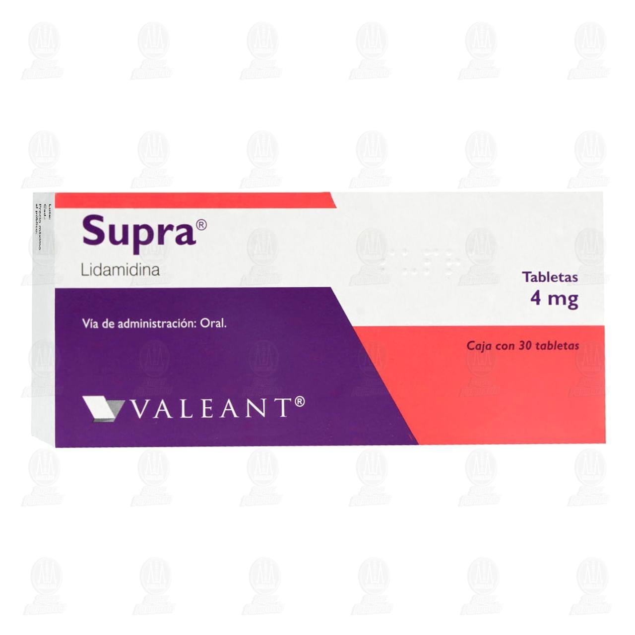 Comprar Supra 4mg 30 Tabletas en Farmacias Guadalajara