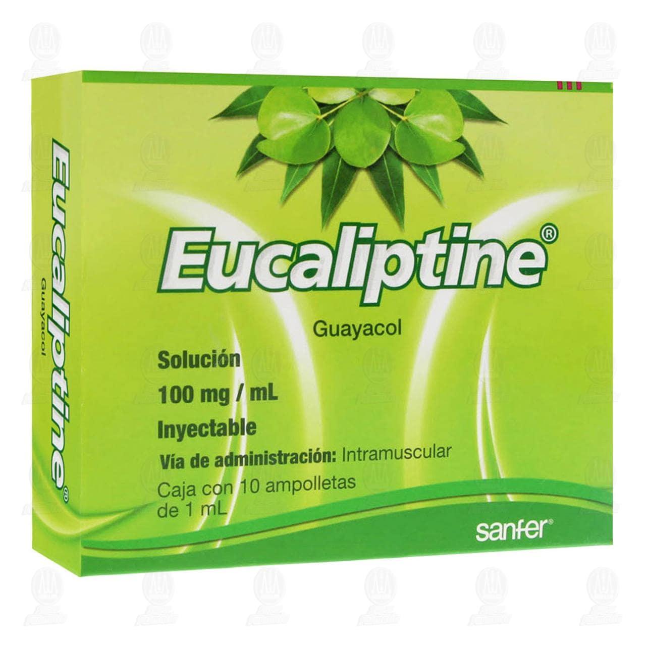 Comprar Eucaliptine 100mg Solución Inyectable 10 Ampolletas en Farmacias Guadalajara