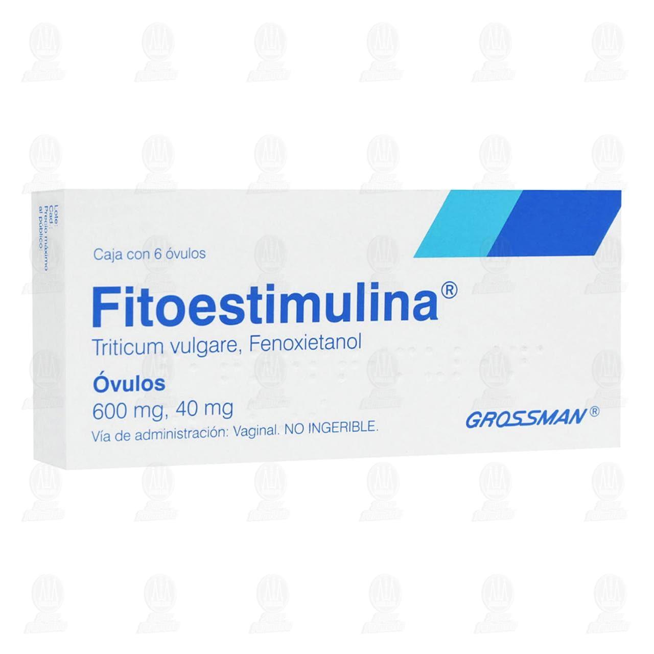 Comprar Fitoestimulina 600mg/40mg 6 Óvulos en Farmacias Guadalajara