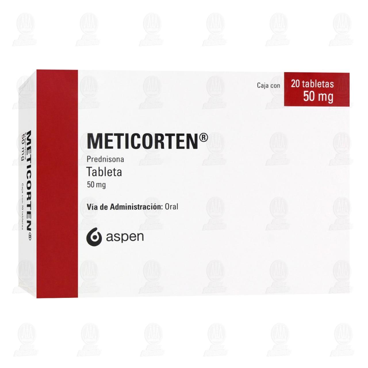 Comprar Meticorten 50mg 20 Tabletas en Farmacias Guadalajara