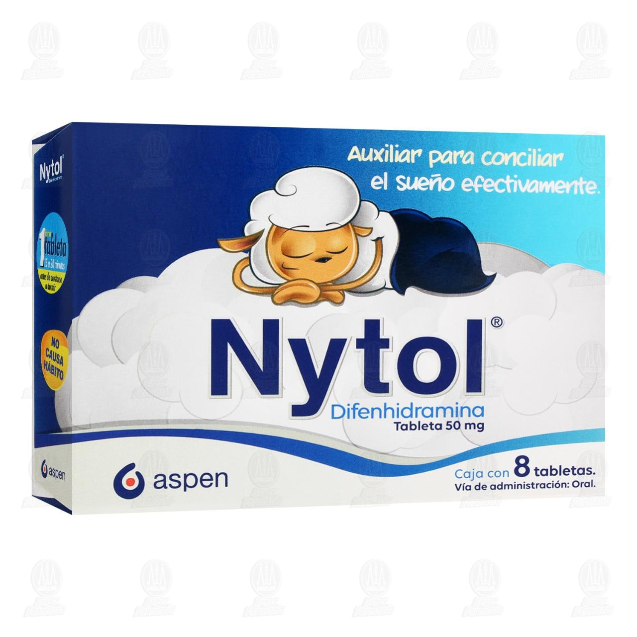 Comprar Nytol 50mg 8 Tabletas en Farmacias Guadalajara