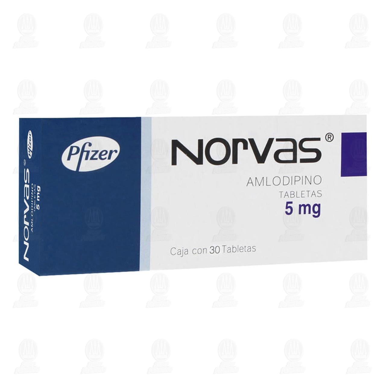 Comprar Norvas 5mg 30 Tabletas en Farmacias Guadalajara