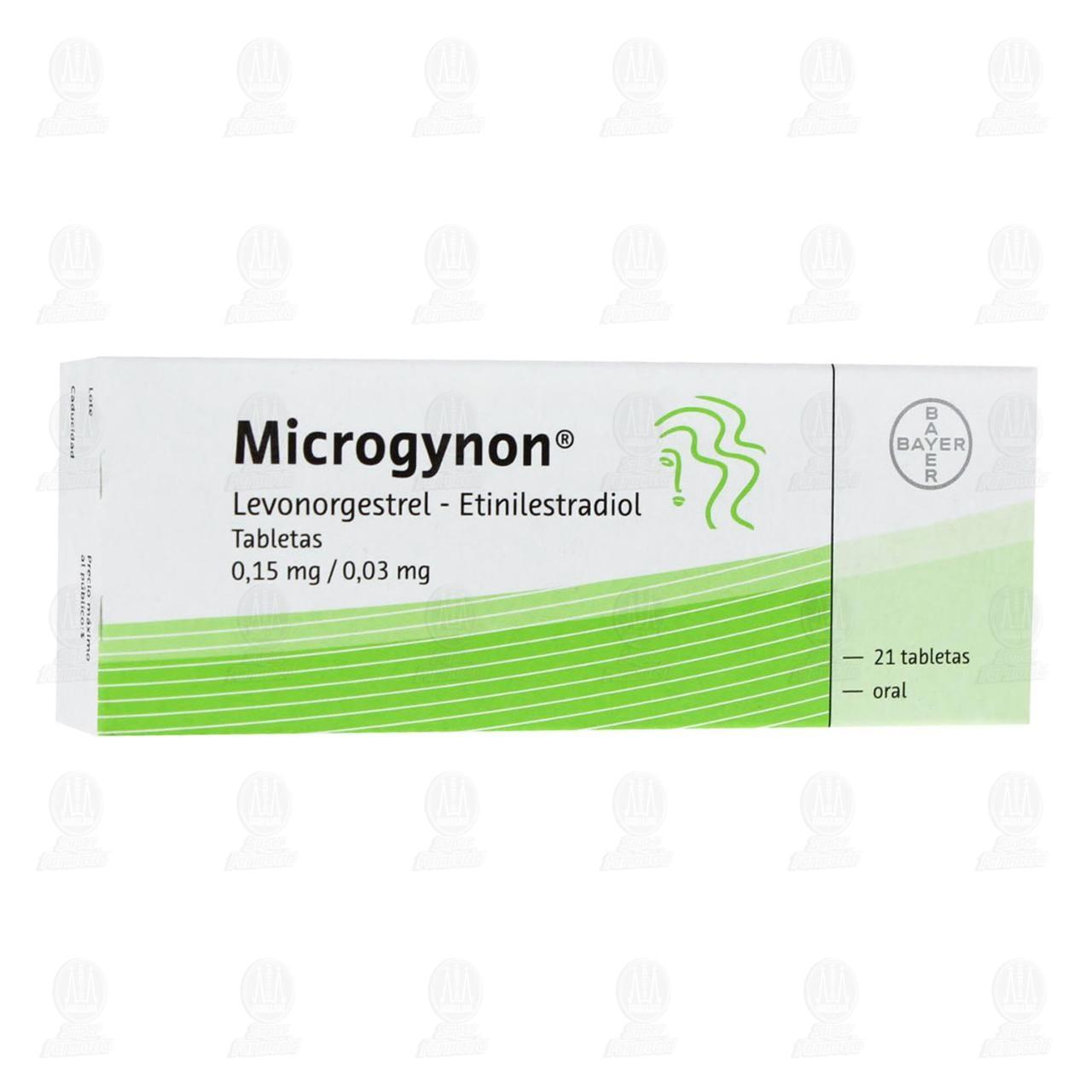 Comprar Microgynon 0.15mg/0.03mg 21 Tabletas en Farmacias Guadalajara