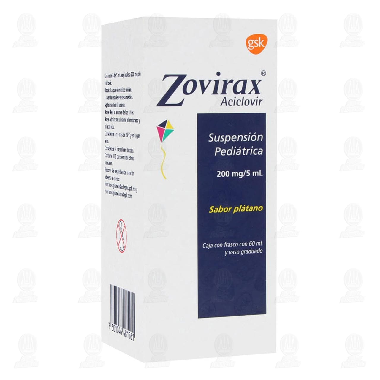 Comprar Zovirax Pediátrico 200mg/5ml 60ml Suspensión en Farmacias Guadalajara