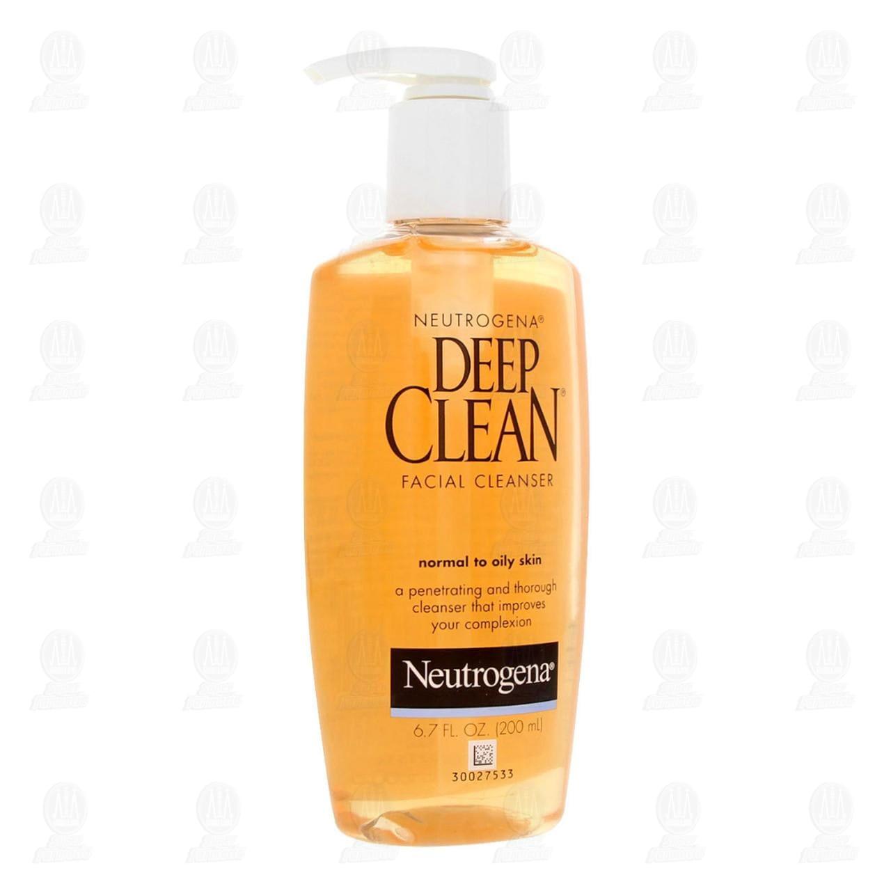 Comprar Limpiador Facial Neutrogena Deep Clean para Piel Normal a Mixta, 200 ml. en Farmacias Guadalajara
