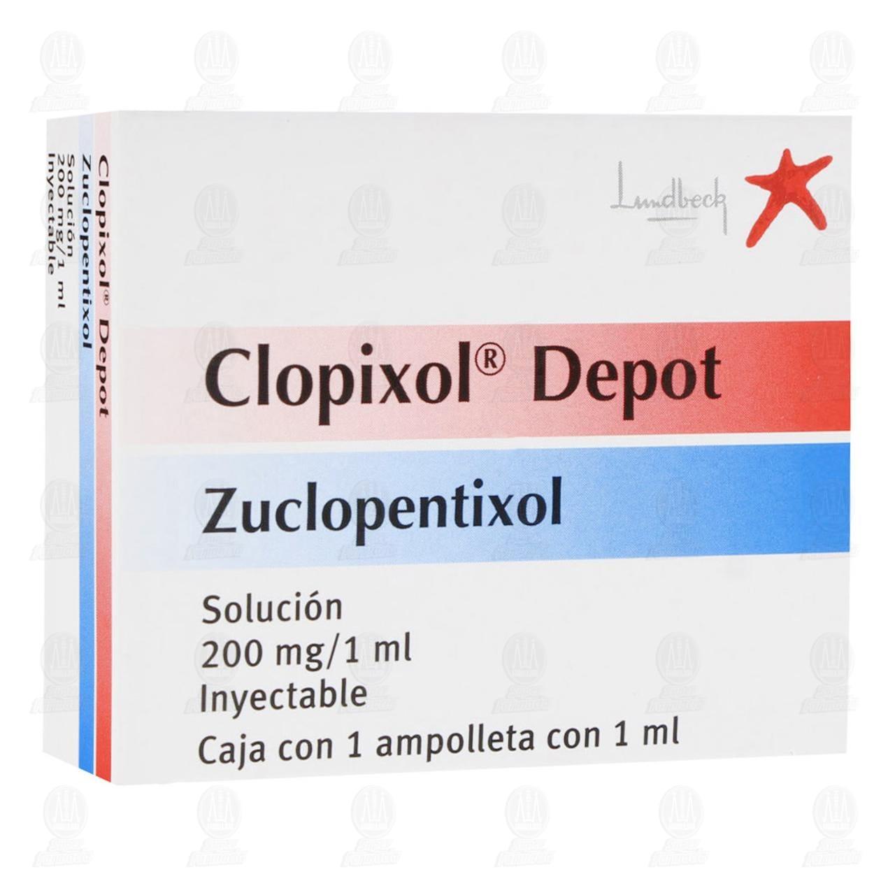 Comprar Clopixol Depot 200mg/1ml Solución Inyectable 1 Ampolleta 1ml en Farmacias Guadalajara