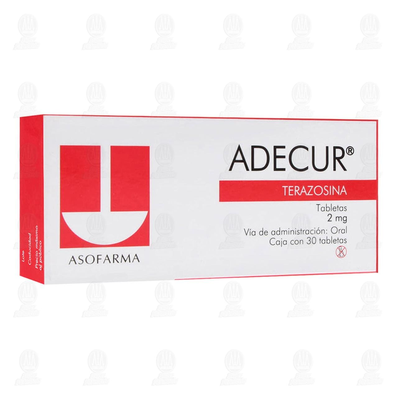 Comprar Adecur 2mg 30 Tabletas en Farmacias Guadalajara