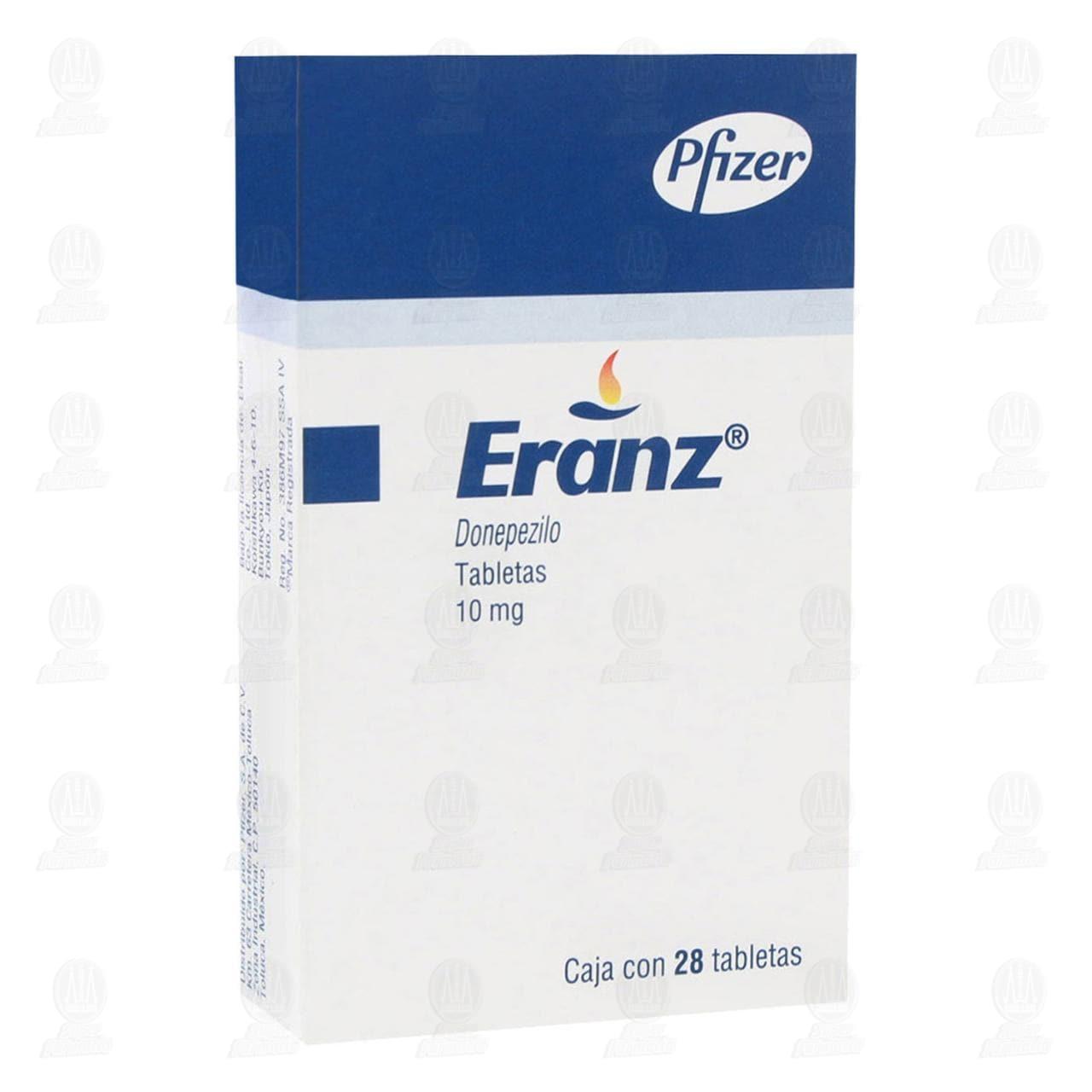 Comprar Eranz 10mg 28 Tabletas en Farmacias Guadalajara