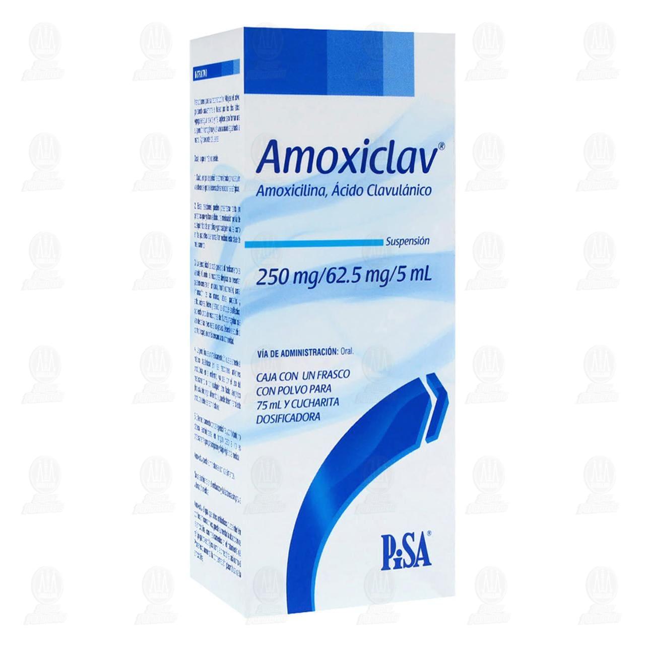 Comprar Amoxiclav Suspensión 250mg/62.5mg/5ml 75ml en Farmacias Guadalajara