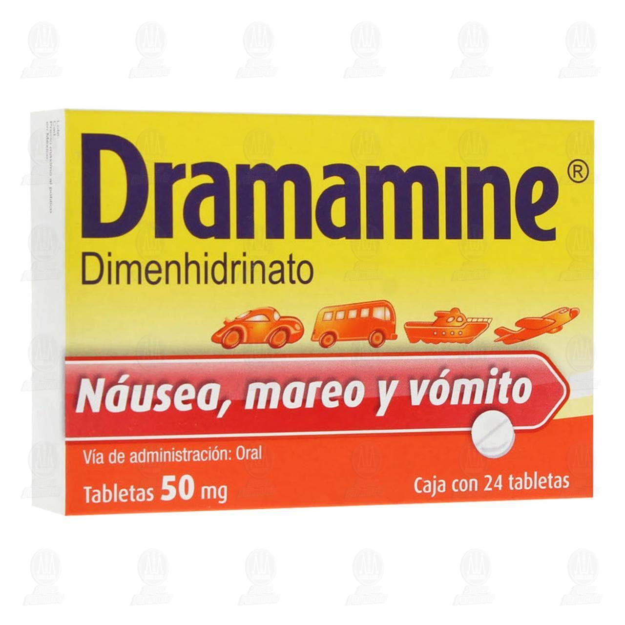Comprar Dramamine 50mg 24 Tabletas en Farmacias Guadalajara