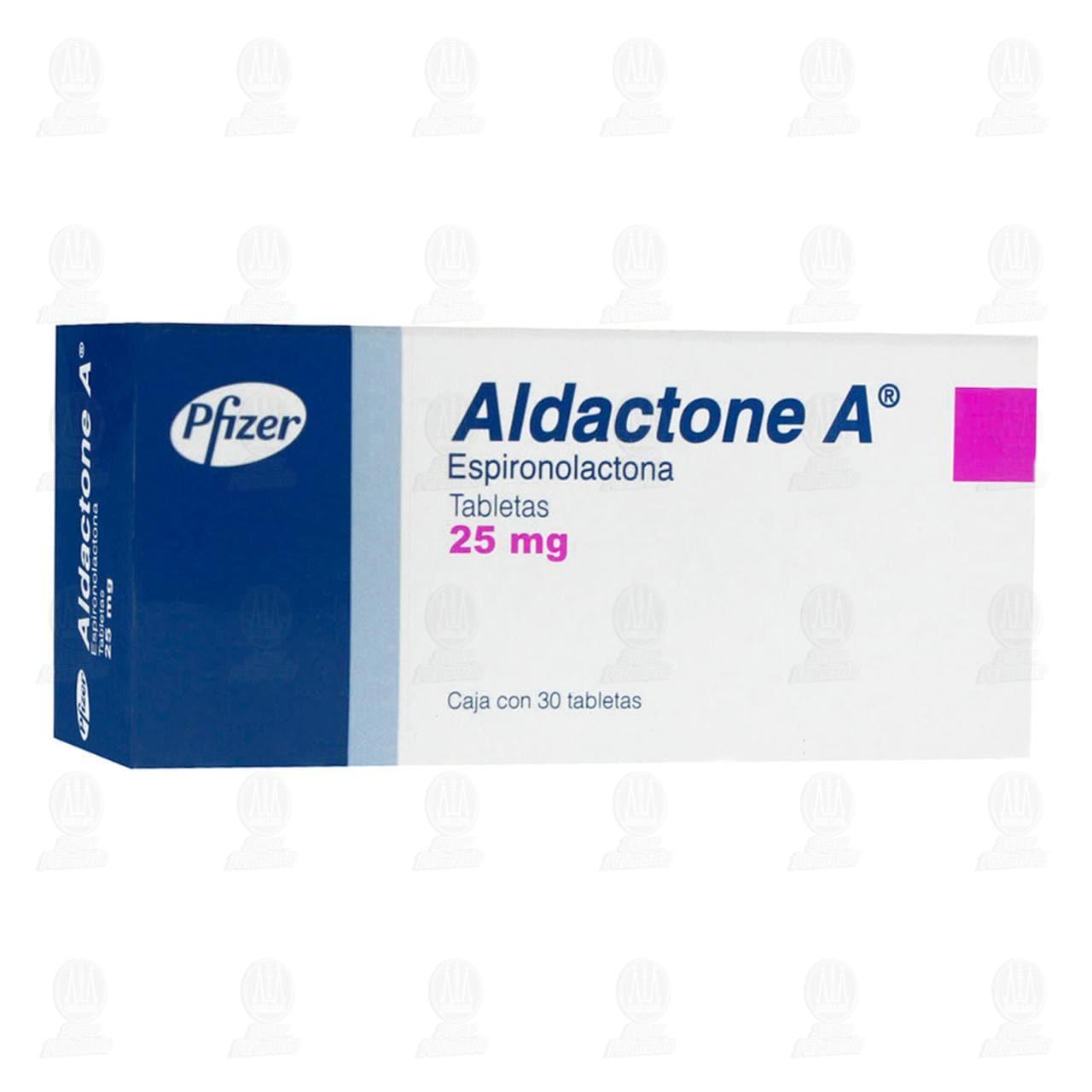 Comprar Aldactone A 25mg 30 Tabletas en Farmacias Guadalajara