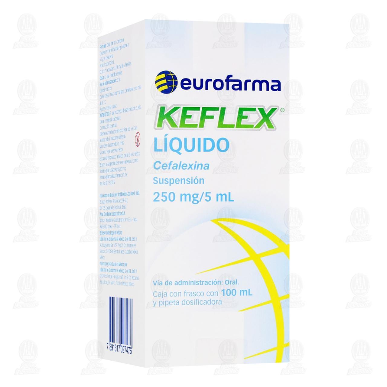 Comprar Keflex Líquido 250mg/5ml Suspensión 100ml en Farmacias Guadalajara