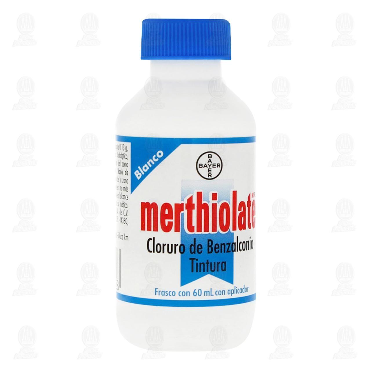 Comprar Merthiolate Blanco Antiséptico para Heridas Leves 60ml en Farmacias Guadalajara