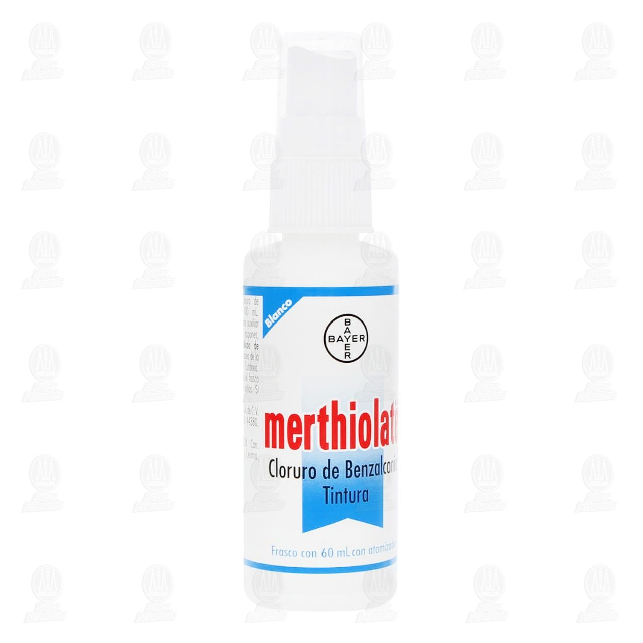 Comprar Merthiolate Blanco Atomizador Antiséptico para Heridas Leves 60ml en Farmacias Guadalajara