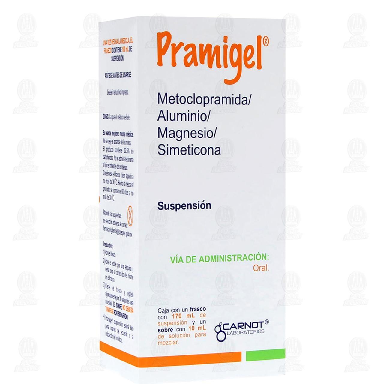 Comprar Pramigel Suspensión 180ml en Farmacias Guadalajara