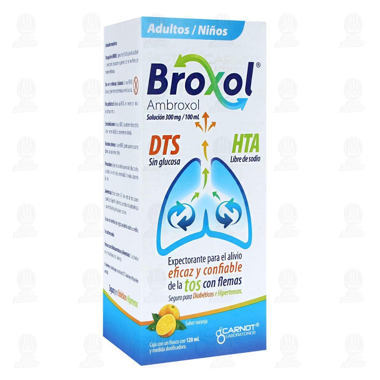 Comprar Broxol Solución Sabor Naranja 300mg/100ml 120ml en Farmacias Guadalajara