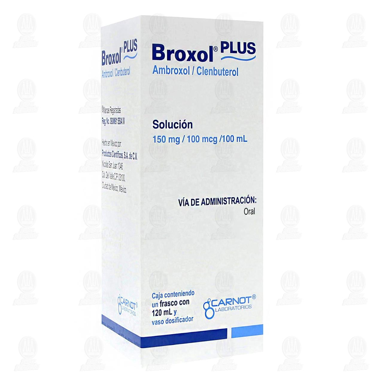 Comprar Broxol Plus 150mg/100mcg/100ml 120ml en Farmacias Guadalajara