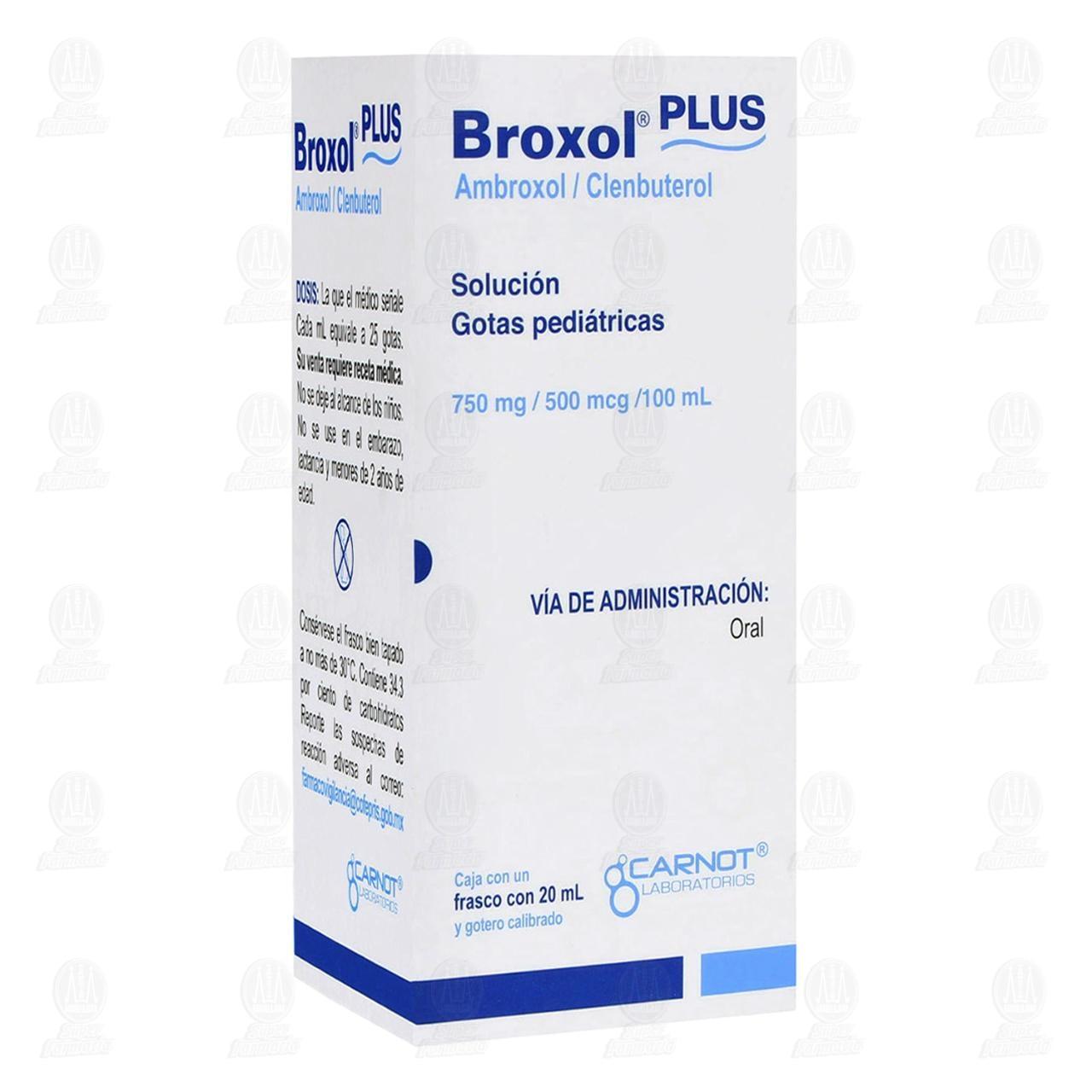 Comprar Broxol Plus Gotas Pediátricas 750mg/500mcg/100ml 20ml en Farmacias Guadalajara