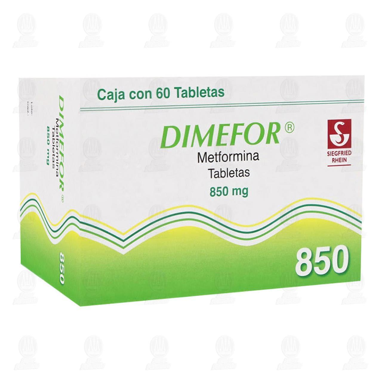 Comprar Dimefor 850mg 60 Tabletas en Farmacias Guadalajara
